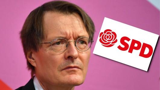 SPD-Spitzenpolitiker Karl Lauterbach ist hinten zu finden auf der Liste seiner Partei für die Bundestagswahl.