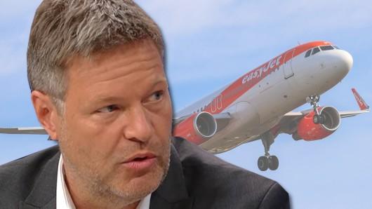 Bald keine Billigflüge mehr für die breite Masse? Robert Habeck in der ZDF-Sendung von Maybrit Illner.
