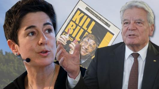 Was doe Querdenker betrifft haben sie eindeutig verschiedene Ansichten: TV-Moderatorin Dunja Hayali und Altbundespräsident Joachim Gauck.
