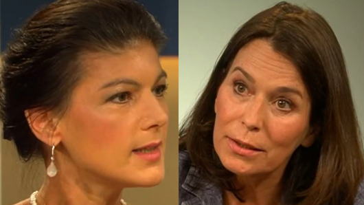 Linkspartei-Politikerin Sahra Wagenknecht zu Gast bei Anne Will (ARD).