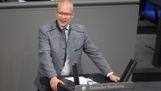 AfD-Politiker Hansjörg Müller im Bundestag.