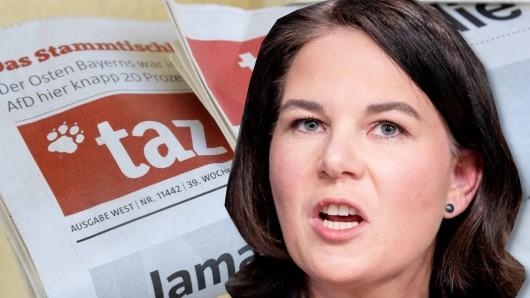 """Annalena Baerbock auch in der """"taz"""" in der Kritik."""