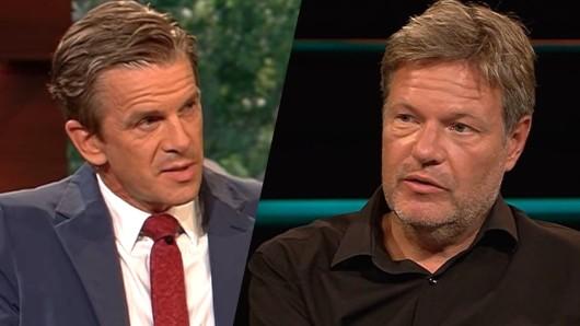 Robert Habeck zu Gast in der ZDF-Studio von Markus Lanz.