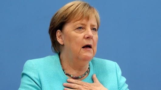 Angela Merkel in der Bundespressekonferenz am Mittwoch.