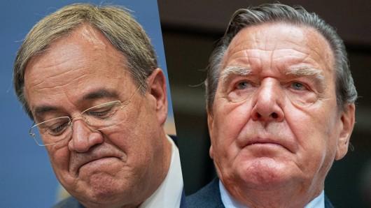 Altkanzler Gerhard Schröder (SPD) spricht über die Wahlniederlage von Unions-Kanzlerkandidat Armin Laschet.