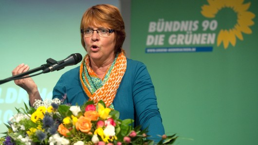 Die neu gewählte Landesvorsitzende von Bündnis 90/Die Grünen, Meta Janssen-Kucz.