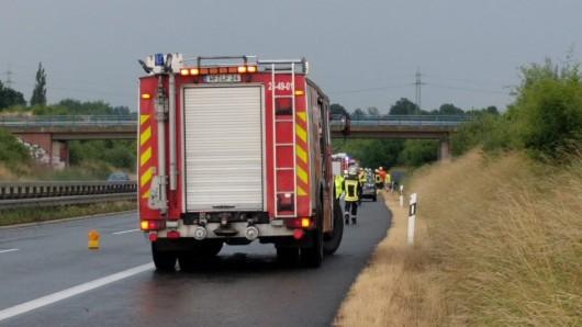 Auf der A39 hat es am Samstagnachmittag einen Unfall gegeben.