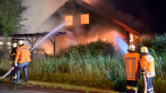 Die Feuerwehr konnte nicht mehr viel retten.