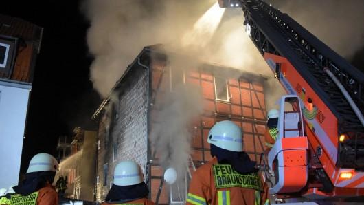 Auch die Feuerwehr Braunschweig rückte an.