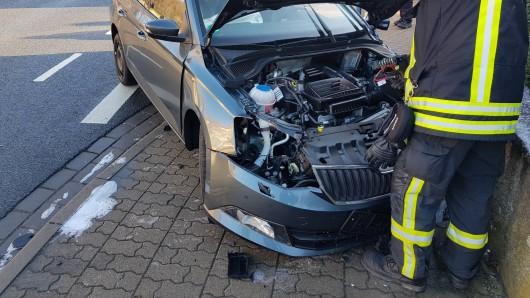 Bei dem Unfall in der Salzdahlumer Straße in Wolfenbüttel wurde der Fahrer schwer verletzt.