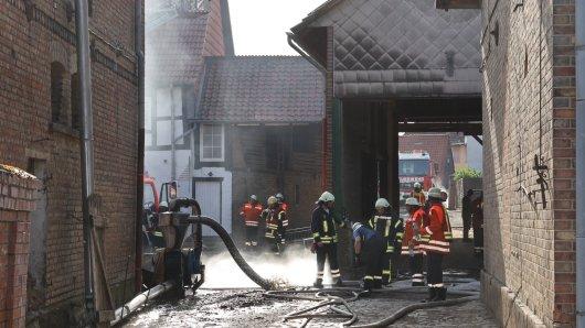 In Remmlingen brannte eine Scheune.
