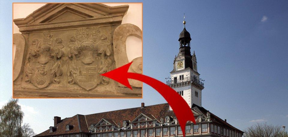 Ein Rechtsanwalt hat dieses Symbol im Schloss Wolfenbüttel entdeckt.