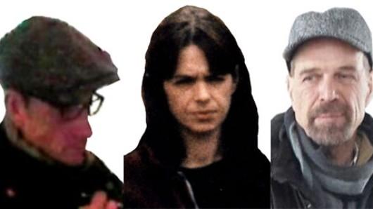 Dies sind vermutlich die drei Täter: (v.l.) Burkhard Garweg, Daniela Klette und Ernst-Volker Staub.