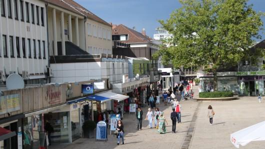 Die Porschestraße Mitte in Wolfsburg.