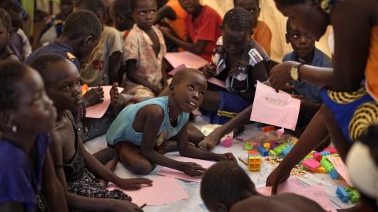 Unbegleitete Flüchtlingskinder aus dem Südsudan. Jeder 113. Mensch auf der Welt war im vergangenen Jahr ein Flüchtling.
