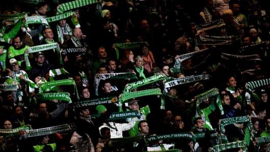 Fans des VfL Wolfsburg.