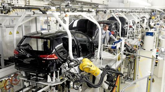 Golf-Produktion im VW-Werk Wolfsburg.