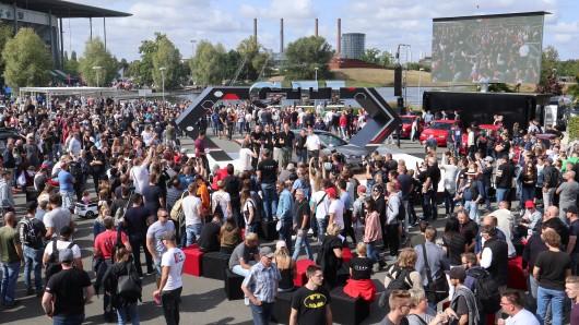 Insgesamt nahmen rund 3.000 Autos an der Veranstaltung am Samstag teil.