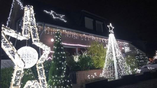 So sah es im vergangenen Jahr aus, das Weihnachtshaus in Mörse.