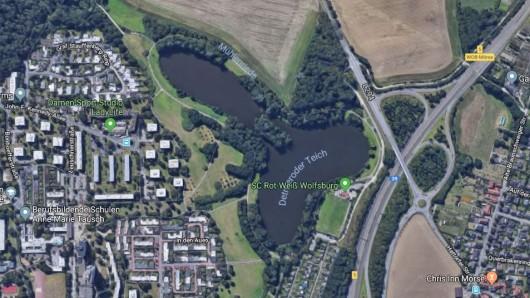 Der Detmeroder Teich in Wolfsburg