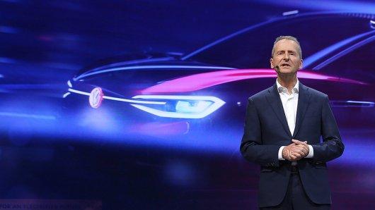 VW-Chef Herbert Diess bei der Volkswagen Group Night auf der Automesse in Shanghai.