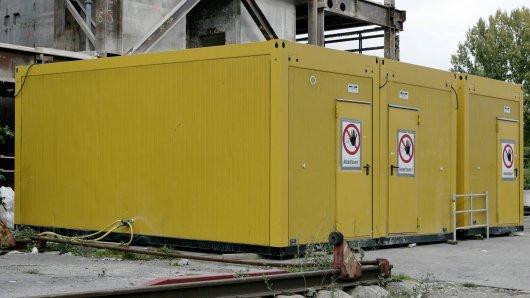 Wer, warum und vor allem WIE klaut einen Baucontainer? (Symbolfoto)