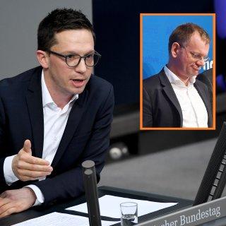 Falko Mohrs zerlegt die AfD im Bundestag. Dirk Spaniel wehrt sich. (Collage)